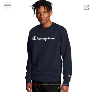 Champion Fleece Script Logo Crewneck Sweatshirt